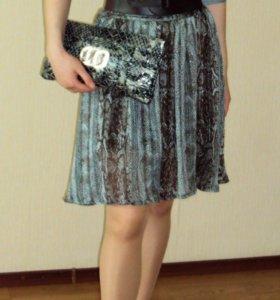 Платье с ремнем и сумка