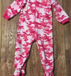 Флисовая пижама 3года