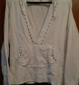 Женская белая кофта толстовка Mondigo 50-52