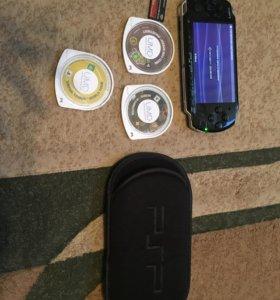 PSP 3008 16 gb Чехол Куча Игр