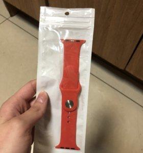 Красный ремешок для Apple Watch
