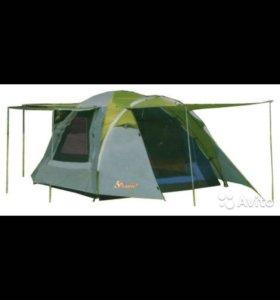 Трехместная двухслойная кемпинговая палатка