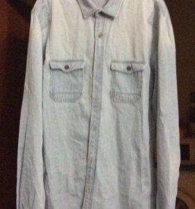 Рубашка джинсовая размер S