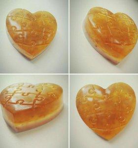 "Мыло - скраб (нежный) ""Медовое сердце"""