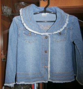 джинсовая ветровка-куртка