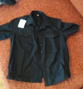 Рубашка повседневная чёрная вма