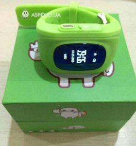 Q50 детские смарт часы green
