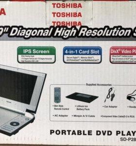Портативный DVD плеер с экраном 9'' IPS Toshiba