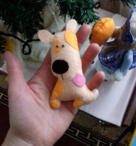 Ёлочные игрушки из фетра.