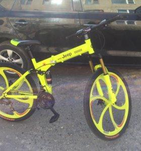 Складной горный велосипед новый