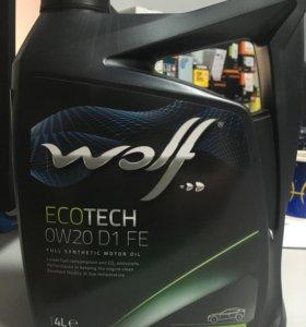 Моторное масло Вольф Wolf 0w20 d1 fe 4l