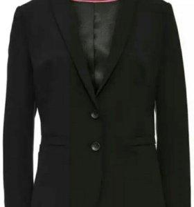 42 пиджак женский черный united colors of benetton