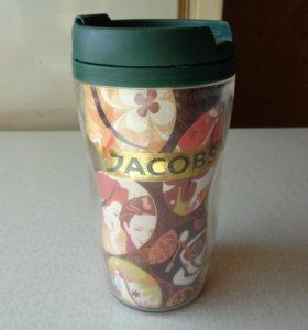 Пластиковая термокружка Jacobs