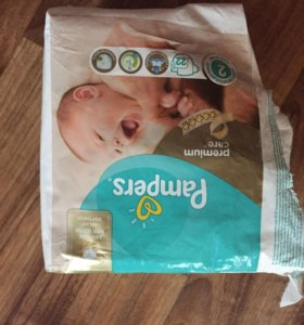 Pampers premium care 10 штук