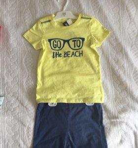 Новый летний костюм шорты и футболка 92-104
