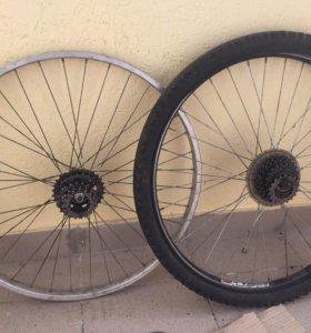 Велосипедное заднее колесо