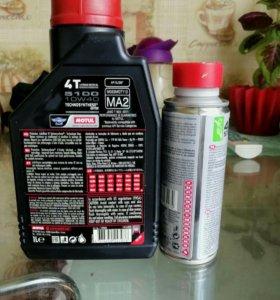 Моторное масло Motul 1л.+очиститель топливной сист