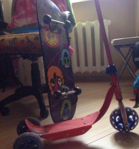 Самокат детский, скейт большой
