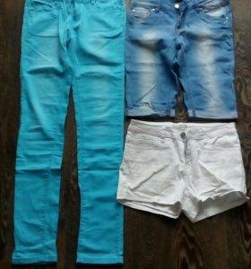 Брюки, шорты, бриджи на лето 28 размер