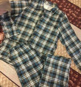Пижама мужская фланелевая 48-50 новая