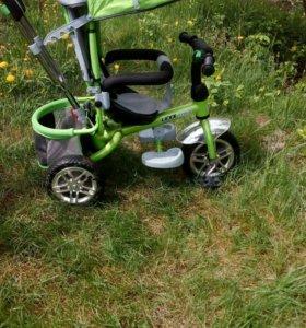 Детский велосипед-коляска.