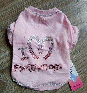 Футболка розовая (одежда для собак)