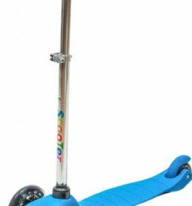 Самокат детский 3х-колесный до 30 кг новый