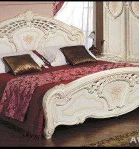 Кровать с бельевым ящиком и матрасом