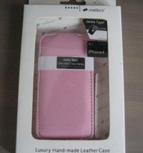 Нат.кожа Чехол для iPhone 4/4S