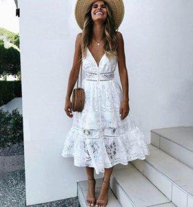 Новое летнее белое платье 42-44 размер