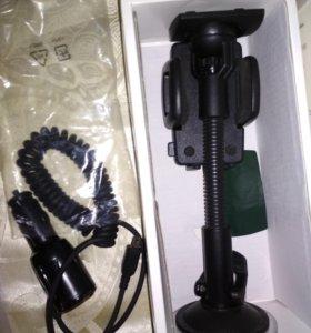 Новая!Автомобильная зарядка и подставка для htc
