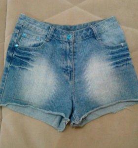 Высокие джинсовые шорты,s