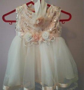 Платье праздничное на рост 74-80