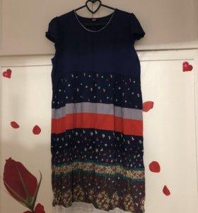 Летнее легкое платье 46-50