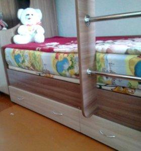 Новая детская 2-х ярусная кровать