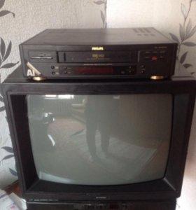 Продам телевизор и видик