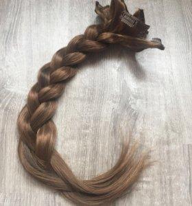 Натуральные славянские волосы на заколках