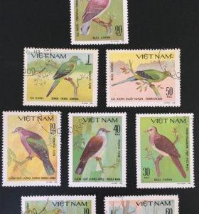Марка 1980г., Вьетнам, птицы