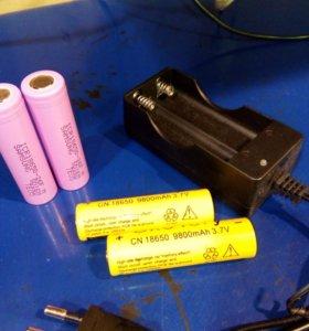 Зарядное устройство 18650, аккумуляторы