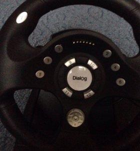 Руль и педаль для компьютерных игр
