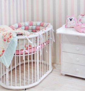 Кроватка для новорожденных трансформер 8 в 1
