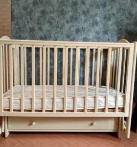 Детская кроватка кубаночка+матрас Афалина