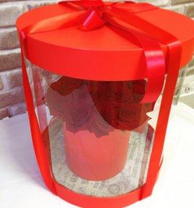 Коробка с розами красными спб