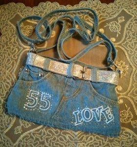 Модная джинсовая сумочка(новая)