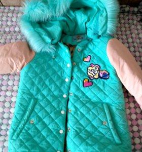 демисезонная куртка с капьшоном