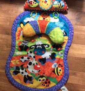 Развивающий коврик и игрушки для малыша (пакетом )