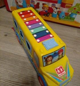 Автобус сортер, ксилофон