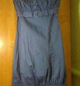Платье повседневное с открытыми плечами