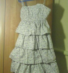 Платье каскадное хлопок
