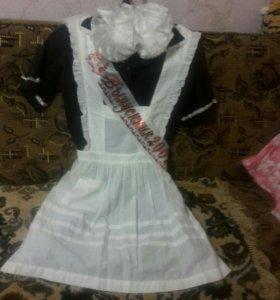 Платье с фартуком на выпускной